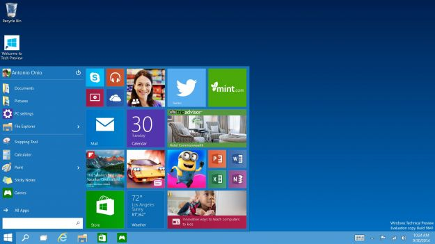 Windows 10, Microsoft riparte dal menu Start
