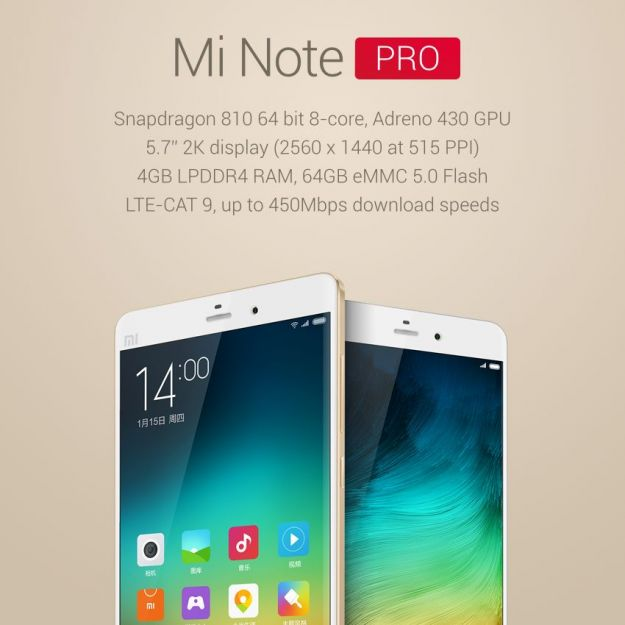 Xiaomi Mi Note Pro scheda tecnica