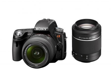 Sony Alpha SLT-A55V: reflex digitale con tecnologia 3D come idea regalo