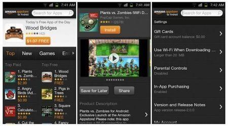 Kindle Fire: Amazon aggiorna l'App Store alla versione 2.0