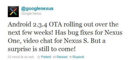 Android 2.3.4 per Nexus S