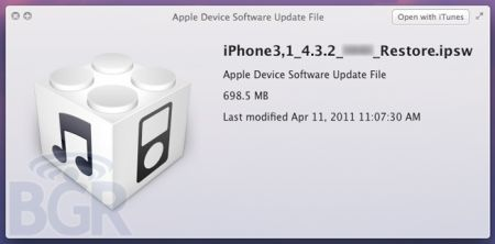 Apple iOS 4.3.2 in arrivo entro poche settimane (Aprile 2011)?