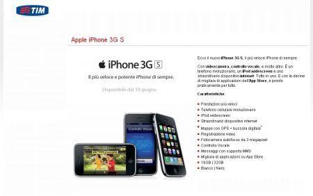 Apple iPhone 3GS: novità per quanto riguarda le tariffe Tim