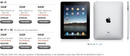 Apple iPad in pre-order su App Store