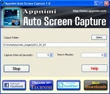 Auto Screen Capture: scattare foto del vostro schermo ad intervalli regolari