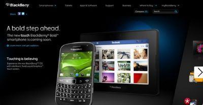 BlackBerry Bold Touch compare improvvisamente sul sito RIM