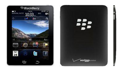 BlackPad Cobalt Tablet BlackBerry RIM