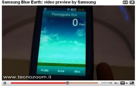 Samsung Blue Earth: anteprima cellulare ecologico in video