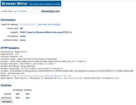 Browser Mirror: scoprire quali dati sono condivisi dal nostro browser