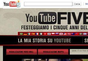 Youtube festeggia 5 anni di video online