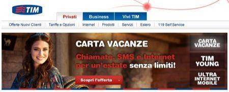Promozioni estive 2012: Carta Vacanze TIM, dettagli, limiti e prezzo
