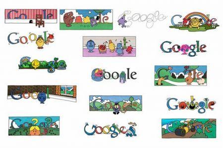 Google Doodle a vignette per l'illustratore Charles Roger Hargreaves