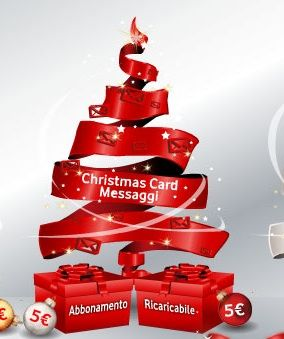 Vodafone Christmas Card Internet e Messaggi: SMS e internet gratis per Natale