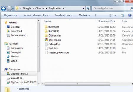 Eliminare le vecchie versioni di Chrome installate sul proprio pc