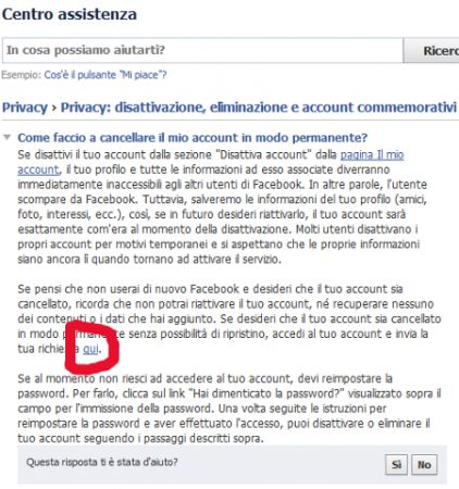 come cancellarsi da facebook 12