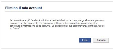 come cancellarsi da facebook 13