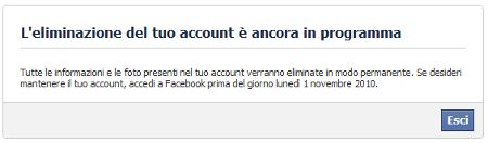 come cancellarsi da facebook 16