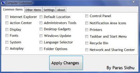 Computer Customizer: aggiungere voci al menù My Computer