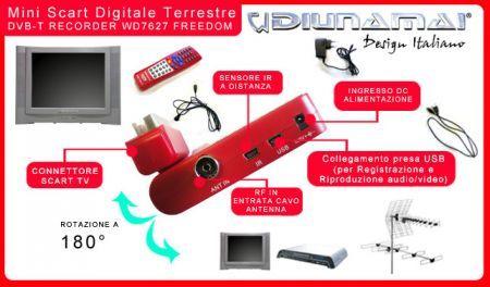 Diunamai Mini Scart DVB-T WD8230 Freedom prova su strada