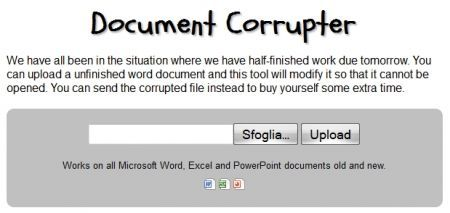 Document Corrupter: corrompere un documento Office a comando