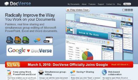 Con DocVerse Google si avvicina ad Office