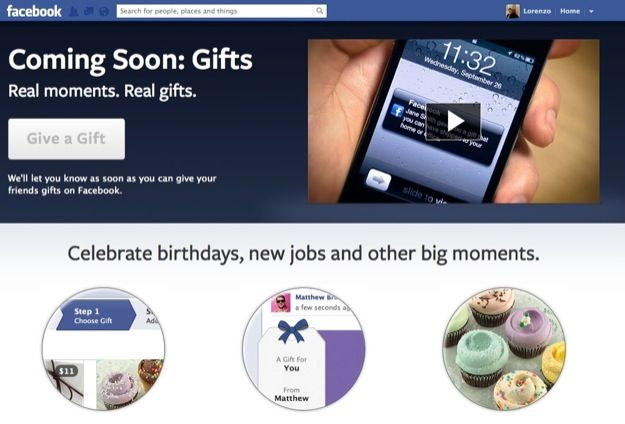 Facebook Gift, l'e-commerce arriva sui social network