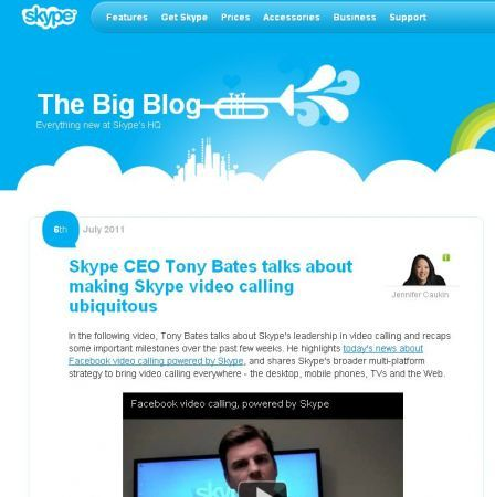 Facebook: videochiamate con Skype