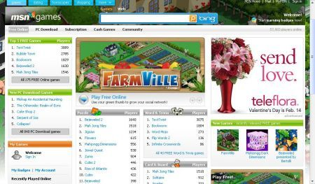 Farmville su Microsoft Live Messenger e MSN Games