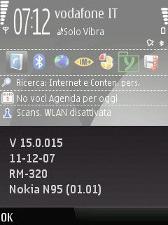 Nokia N95 8GB, Change Log v15.0.015