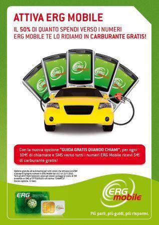 Erg Mobile Promozione: chiama e ricevi il carburante gratis