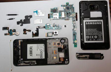 Samsung Galaxy S2: ecco la componentistica interna