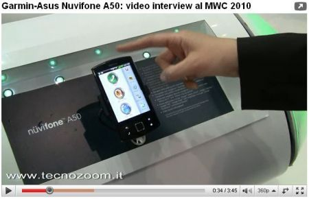 Garmin Asus Nüvifone A50: video intervista