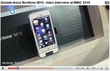 Garmin Asus Nuvifone M10: video intervista