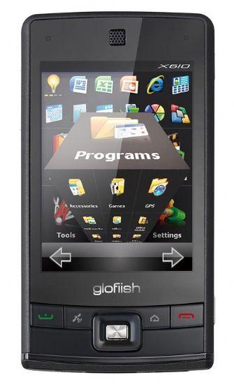 Glofiish E-Ten X610 con interfaccia 3D