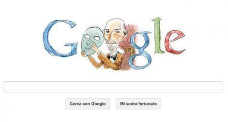 Google Doodle per Luigi Pirandello, il teatro dello specchio
