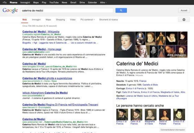 Google Knowledge Graph, motore di ricerca intelligente anche in Italia