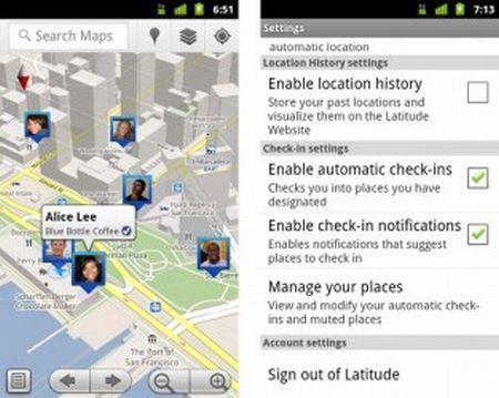 Arriva Google Maps 5.1 con i check-in automatici su Latitude