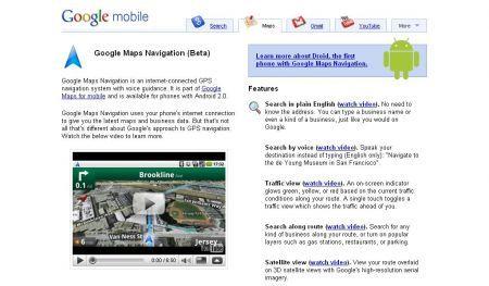 Google Maps Navigation: il GPS gratis di Android 2.0 contro TomTom e Garmin