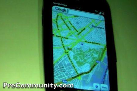 Google Maps sul terminale Palm Pre