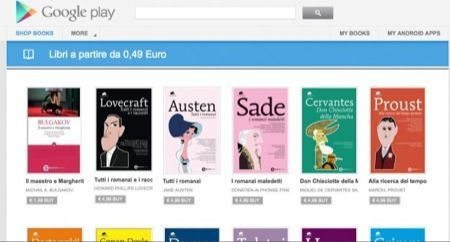 Google Play, disponibili ora anche gli ebook in italiano