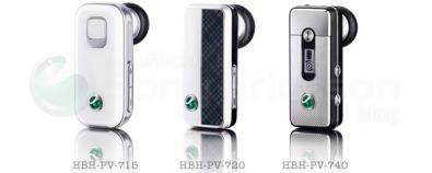 HBH-PV-715, 720 e 740: auricolari bluetooth di classe da Sony Ericsson