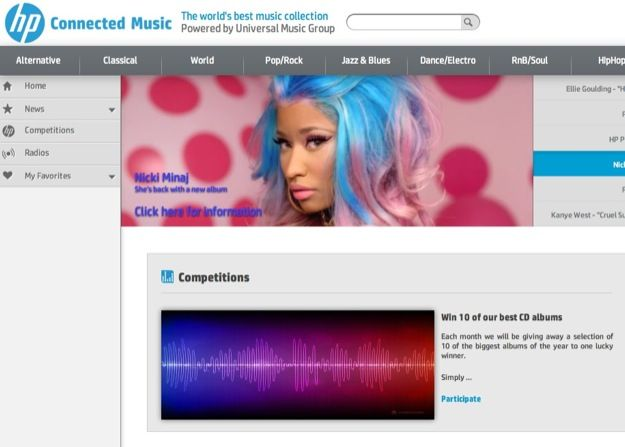 HP Connected Music, nasce un nuovo avversario per iTunes
