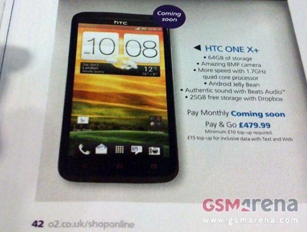 HTC One X+, scheda tecnica svelata in anteprima