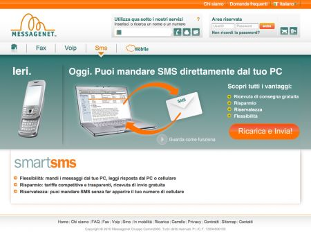 Messagenet SmartSMS: invii SMS dal computer a meno di 10 cent.!