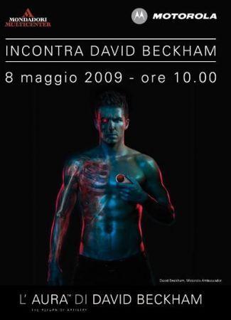 David Beckham e Motorola: acquista un cellulare e lo incontri!