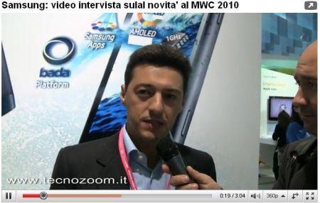 Samsung al MWC 2010: intervista a Manuele De Mattia