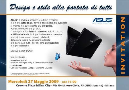 Notebook Asus: domani la presentazione dei nuovi modelli