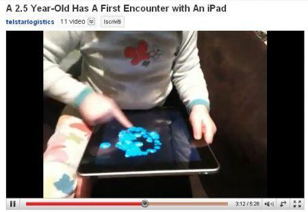 iPad: usare il Tablet Apple perfettamente a 2 anni