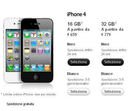 iPhone 4 di bianco