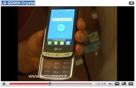 LG GD900 Crystal: tastierino scorrevole trasparente touchscreen in video